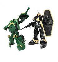 Игровой набор - Робот-Трансформер (15 см), танк (зеленый), воин, X-BOT