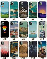Чехол премиум качества с принтом Путешествия Архитектура для Iphone 11 11Pro 11Pro Max