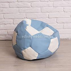 Крісло м'яч 60 см | білий+блакитний кожзам Zeus