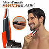 Триммер Micro Touch Switchblade - универсальная бритва для носа и ушей + 2 батарейки GP AAA в подарок!, фото 6