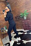 Жіночий утеплений спортивний костюм з бомбером на блискавці vN5547, фото 3