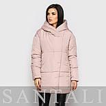 Женская теплая зимняя куртка с капюшоном и наполнителем из биопуха vN5671, фото 2