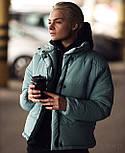 Короткая теплая зимняя женская куртка с воротником - стойкой vN5673, фото 2