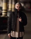 Короткая теплая зимняя женская куртка с воротником - стойкой vN5673, фото 3