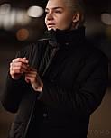 Короткая теплая зимняя женская куртка с воротником - стойкой vN5673, фото 4