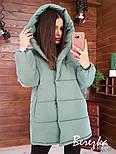 Женская куртка зимняя зефирка на кнопках с капюшоном и карманами vN5674, фото 5