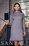 Прямое платье из вязаного трикотажа с воротником хомутом vN5680, фото 3