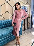Платье - футляр из люрекса с рукавом летучая мышь и разрезом спереди vN5682, фото 3