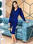 Платье - футляр из люрекса с рукавом летучая мышь и разрезом спереди vN5682, фото 4