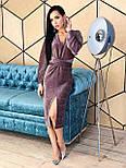 Платье - футляр из люрекса с рукавом летучая мышь и разрезом спереди vN5682, фото 6