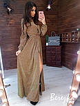 Длинное платье из люрекса с верхом на запах и поясом vN5701, фото 2