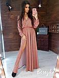 Длинное платье из люрекса с верхом на запах и поясом vN5701, фото 3