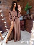 Шелковое длинное платье с верхом на запах и длинным рукавом vN5702, фото 2