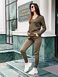 Женский вязаный женский брючный костюм с джемпером vN5709, фото 2