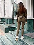 Женский вязаный женский брючный костюм с джемпером vN5709, фото 5