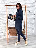 Ангоровый женский брючный костюм с удлиненной кофтой vN5716, фото 2
