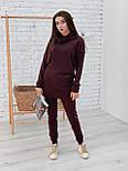 Ангоровый женский брючный костюм с удлиненной кофтой vN5716, фото 3