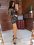 Женский ромпер с пайеткой и вышивкой и верхом на запах vN5718, фото 4