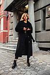 Женская длинная искусственная шуба из меха каракуля на утеплителе vN5775, фото 4