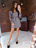 Свободное короткое платье из люрекса с верхом на запах и длинным рукавом vN5802, фото 6