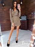 Свободное короткое платье из люрекса с верхом на запах и длинным рукавом vN5802, фото 7