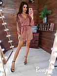 Свободное короткое платье из люрекса с верхом на запах и длинным рукавом vN5802, фото 9