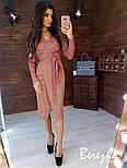 Сияющее платье из люрекса длиной миди на запах с длинным рукавом vN5803, фото 7