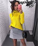 Женский однотонный тонкий свитер с горлом и рукавом регланом vN5823, фото 6