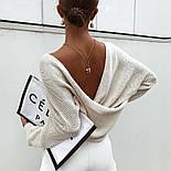 Женский вязаный свитер свободный с открытой спиной vN5831, фото 2