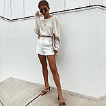 Женский вязаный свитер свободный с открытой спиной vN5831, фото 3