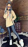Женское удлиненное худи на флисе с капюшоном vN5835, фото 2