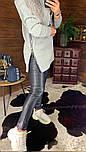 Женское удлиненное худи на флисе с капюшоном vN5835, фото 3