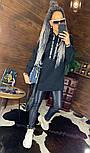 Женское удлиненное худи на флисе с капюшоном vN5835, фото 4