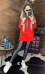 Женское удлиненное худи на флисе с капюшоном vN5835, фото 8
