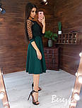 Платье миди с пышной юбкой и кружевным верхом с рукавом 3/4 vN5840, фото 8