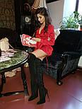 Асимметричное атсалное платье с длинным рукавом и верхом на завязке vN5844, фото 8