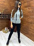 Женский спортивный костюм из трехнитки на флисе с мастеркой на молнии vN5851, фото 2