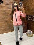 Женский спортивный костюм из трехнитки на флисе с мастеркой на молнии vN5851, фото 3