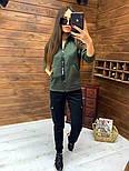 Женский спортивный костюм из трехнитки на флисе с мастеркой на молнии vN5851, фото 4