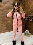 Женский спортивный костюм из трехнитки на флисе с мастеркой на молнии vN5851, фото 5