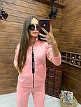 Женский спортивный костюм из трехнитки на флисе с мастеркой на молнии vN5851, фото 6