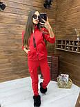 Женский спортивный костюм из трехнитки на флисе с мастеркой на молнии vN5851, фото 7