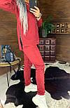 Замшевый женский брючный костюм с кофтой и боковыми молниями vN5859, фото 3