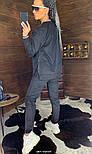 Замшевый женский брючный костюм с кофтой и боковыми молниями vN5859, фото 7