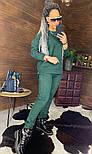 Замшевый женский брючный костюм с кофтой и боковыми молниями vN5859, фото 9