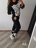 Женский теплый вязаный костюм с кашемиром и узорами vN5861, фото 2