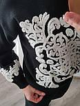 Женский теплый вязаный костюм с кашемиром и узорами vN5861, фото 3