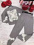 Женский теплый вязаный костюм с кашемиром и узорами vN5861, фото 4