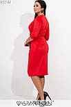 Платье - футляр в больших размерах с верхом на запах и макраме vN5877, фото 5