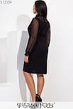 Платье в больших размерах с асимметричной юбкой и вставкой из сетки vN5884, фото 5